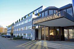 Der Sitz der familiengeführten Gauselmann Gruppe liegt in der Merkur-Allee im ost-westfälischen Espelkamp.