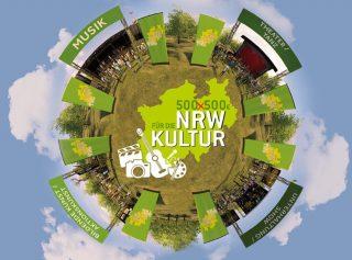 Alle Kunst- und Kultur-Interessierten können auf der neuen Webseite www.nrw- künstlervielfalt.de in einem 3D-Rundgang ein Festivalgelände virtuell erkunden.