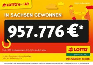 """""""6 Richtige"""" bringen eine knappe Million Euro in den Landkreis Leipzig"""