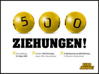 Am Freitag (15. Oktober) findet die 500. Ziehung der europäischen Lotterie Eurojackpot statt.