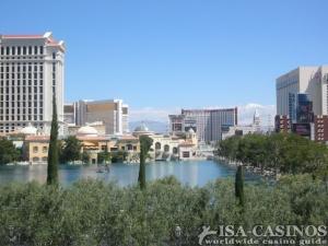 Bilderbuchblick auf Las Vegas