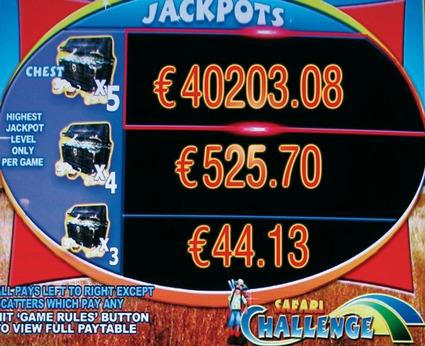 `Ozzy´-Gewinnbild in der Spielbank Potsdam