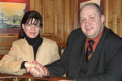 Belina Wollersheim (2.) und Stefan Martin (1.)