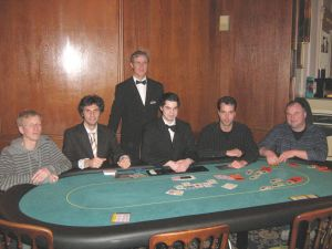 Daniel Friese (4.), Stanislav Wolf (3.), Floorman David<br />Klein, Dealer Christian Schmidt, Frank Rieke (2.), Torsten<br />Kerrinnes (1.)