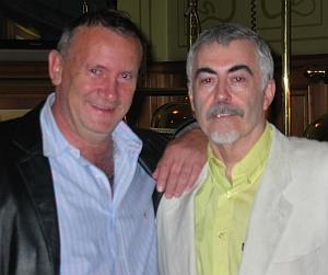 Abgekämpft, aber glücklich<br>Der Sieger Mickey Finn (r.) mit Gerd Wandel.
