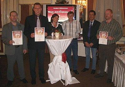 Zufriedene Sieger des Black-Jack-Turniers in der Spielbank Bad Neuenahr