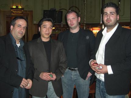 Yehuda Cohen, Trung Nguyen, Christian Ahl, Sarharib Karatas (v.l.n.r.)