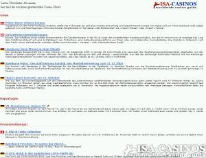 ISA CASINOS <br>Newsletter in neuem Gewand