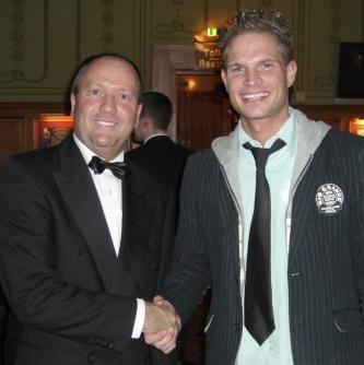 Der Turnierleiter Ralf Brandenburg<br>und Herr Norman Olck