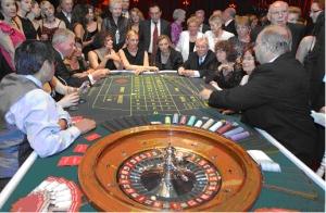 Spiel am Roulette<br>in der Spielbank Baden-Baden