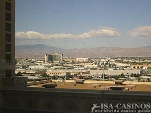 Blick von der  Bellagio Sweet<br> auf Las Vegas