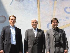 v.l. Sascha Blodau, Wolfram Seifert <br>und Tim Wittenbecher