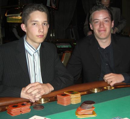 Manuel Frank (li) und Brian Corvers