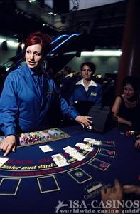 Black Jack Tisch in der Spielbank
