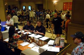 Registration zur WSOP im Rio Las Vegas