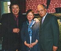 v.l.n.r. Tony Marshall, Fr.<br>Kronenwet, Technischer Direktor der<br>Spielbank Baden-Baden Hr. Verschl
