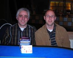 Links auf dem Foto sehen wir den Turniersieger,<br />Damiano Albanese, rechts den Zweitplatzierten<br />Andreas Gondrom.