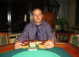 Der Gewinner des Omaha-Pot-Limit<br>Turniers Pascal Bogner.