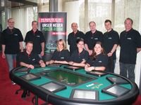 Staff enjoy an in-house PokerPro®<br>tournament at Casino Wiesbaden