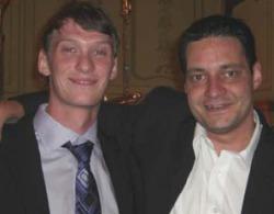 Herr Barkmann (links)<br> und Herr Fischbach.