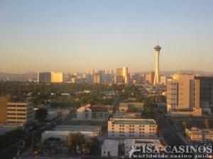 Sensationelle Aussicht aus dem Hotelzimmer auf<br> Las Vegas Boulevard
