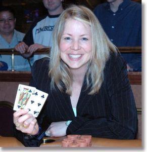 Beatrice Stranzinger, bei ihrem Sieg<br> im Venetian Poker Room