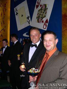 Horst Schmitt<br>Glücklicher Sieger des<br>Black Jack Turniers 2006<br>in der Spielbank Stuttgart
