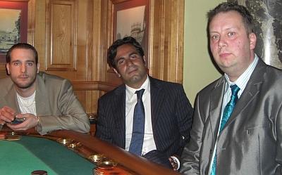 Marc Schoucair, Rene Engel und Patrick Chandler (vlnr)