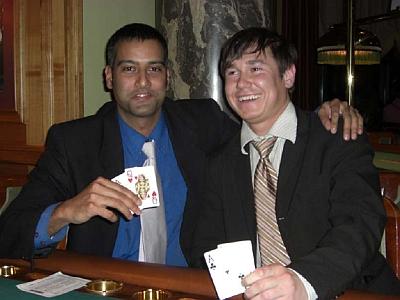 Koushik Biswas (links) und Martin Sobik