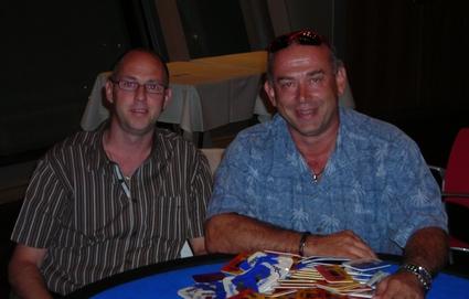 Sieger Günter Jenal (rechts) und Zweitplatzierter Andreas Gondrom