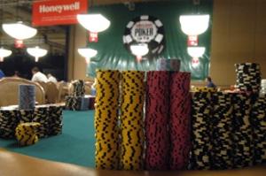 Poker Chips sauber sortiert