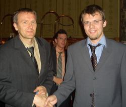 Handshake nach dem Fight!<br>Elmar Horak (1.) & Heiko Beilhardt (2.)