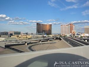 Ansicht des Wynn Casinos in Las Vegas von der Strasse