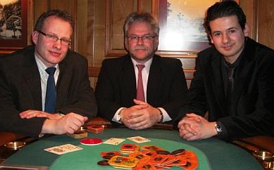 Thomas Froschauer, Alfred Rossel und NN (vlnr)