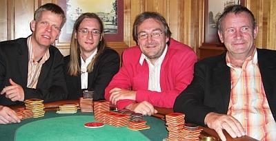 Ralf Werner, Marcel Baran, Alfred Neu und Gerd Wandel (vlnr)