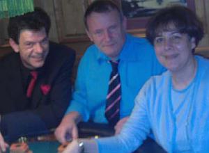 Die drei Gewinner (v.l.n.r.) Herr Walkenbach<br>((2.), Her Wandel (3.) und Frau Homam (1.)