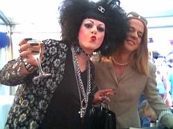 illustre Gäste im Spielbank-Zelt<br> auf dem Lesbisch-schwulen <br>Stadtfest Berlin 2005