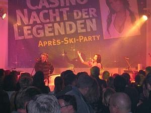 Party-Stimmung bei der Casino Nacht der</br> Legenden mit dem Stargast Antonoia