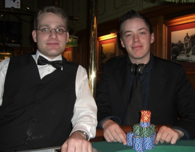 Dominic Hudecek (Dealer) und Brian Corvers (3.)