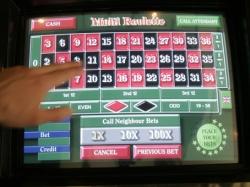 Touchscreen-Rouletteplatz<br> in der Spielbank Cottbus