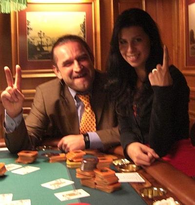 Stefan Mayer-Bekstein (li) und die Siegerin Stefanie Gareiss