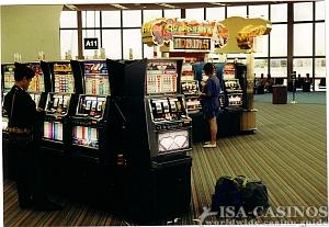 Gambling at Mc Carran Airport<br>in Las Vegas