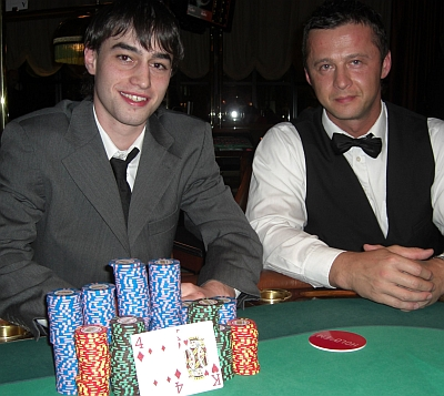 Rainer Ruffing (2) und Demir Halilovic (Dealer)