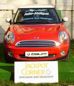 Aktueller Auto-Jackpotgewinn ein Mini Cooper.