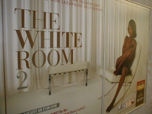 Aktionsplakat White Room in der<br> Spielbank Potsdam