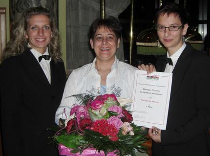 Katrin Fleskes, Soraya Homam und Melanie Hawig (v.l.n.r.)