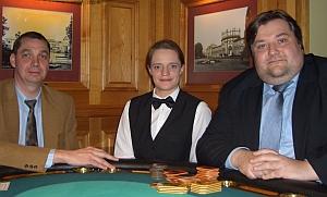 Frau Keuten mit den Siegern<br>Wolfgang Michels & Oliver Rosenberg