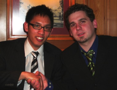 Huy Nguyen (links) und Michael Langner