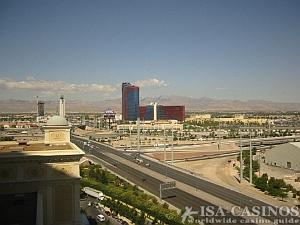 Blick vom Zimmer im Bellagio<br>auf Las Vegas