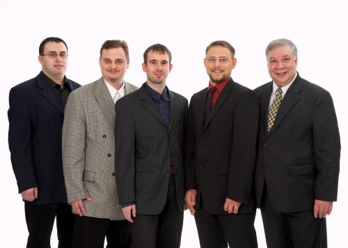 The Team of the ISA-CASINOS f.l.t.r. Denis Jörger, Daniel Guther, André Lohan,<br>Ulli Schmitt and Reinhold Schmitt.